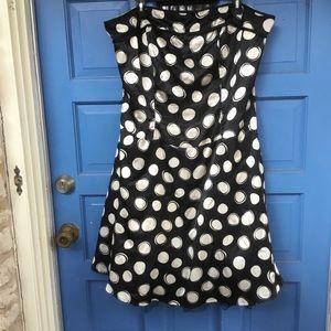 Black and White Polka Dot Mini Dress Size 16